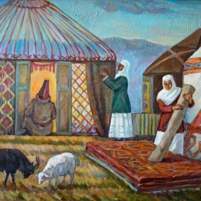 Суретші Мұхтар Сыздықовтың «Алтын бесік – туған жер» атты көрмесі