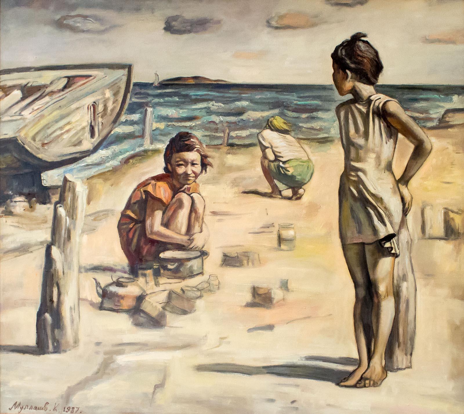 Ойнап жатқан балалар, 1983